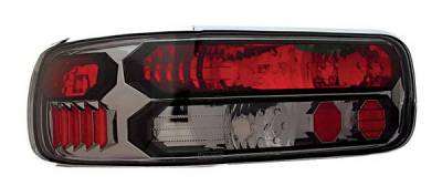Headlights & Tail Lights - Tail Lights - In Pro Carwear - Chevrolet Impala IPCW Taillights - Crystal Eyes - Black Trim - 1 Pair - CWT-CE316CS