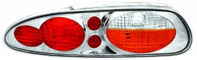Headlights & Tail Lights - Tail Lights - In Pro Carwear - Chevrolet Camaro IPCW Taillights - Crystal Eyes - 1 Pair - CWT-CE323CA