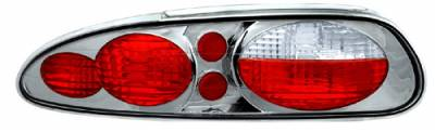 Headlights & Tail Lights - Tail Lights - In Pro Carwear - Chevrolet Camaro IPCW Taillights - Crystal Eyes - 1 Pair - CWT-CE323CS