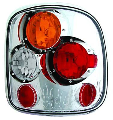 Headlights & Tail Lights - Tail Lights - In Pro Carwear - GMC Sierra IPCW Taillights - Crystal Eyes - 1 Pair - CWT-CE325CA