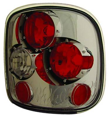 Headlights & Tail Lights - Tail Lights - In Pro Carwear - GMC Sierra IPCW Taillights - Crystal Eyes - 1 Pair - CWT-CE325CS