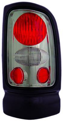 Headlights & Tail Lights - Tail Lights - In Pro Carwear - Dodge Ram IPCW Taillights - Crystal Eyes - 1 Pair - CWT-CE401CS