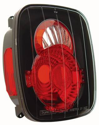 Headlights & Tail Lights - Tail Lights - In Pro Carwear - Jeep Wrangler IPCW Taillights - Crystal Eyes - 1 Pair - CWT-CE407CB