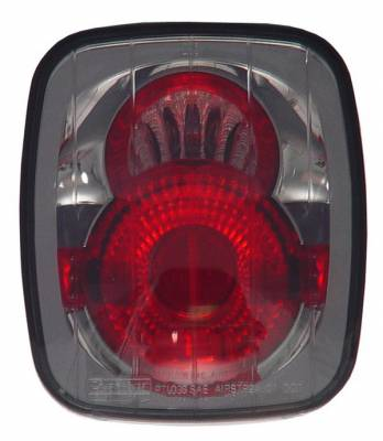Headlights & Tail Lights - Tail Lights - In Pro Carwear - Jeep Wrangler IPCW Taillights - Crystal Eyes - 1 Pair - CWT-CE407CS