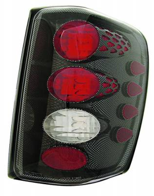 Headlights & Tail Lights - Tail Lights - In Pro Carwear - Jeep Grand Cherokee IPCW Taillights - Crystal Eyes - 1 Pair - CWT-CE5002CF