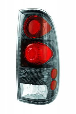 Headlights & Tail Lights - Tail Lights - In Pro Carwear - Ford F250 IPCW Taillights - Crystal Eyes - 1 Pair - CWT-CE501CF