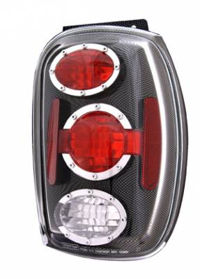 Headlights & Tail Lights - Tail Lights - In Pro Carwear - Mercury Mountaineer IPCW Taillights - Crystal Eyes - 1 Pair - CWT-CE510ACF