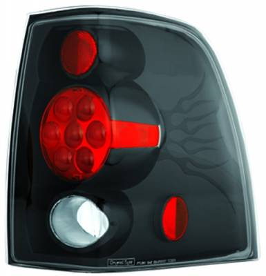 Headlights & Tail Lights - Tail Lights - In Pro Carwear - Ford Expedition IPCW Taillights - Crystal Eyes - 1 Pair - CWT-CE517CB