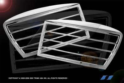 Headlights & Tail Lights - Headlight Covers - SES Trim - Dodge Ram SES Trim ABS Chrome Headlight Trim - HL101