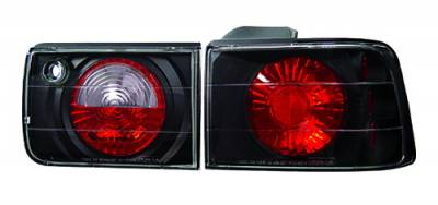 Headlights & Tail Lights - Tail Lights - In Pro Carwear - Honda Accord 4DR IPCW Taillights - Crystal Eyes - 1PC - CWT-CE709CB