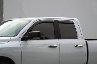 Accessories - Window Visors - GT Styling - Dodge Ram GT Styling Ventgard Sport- Smoked -2PC - 80169