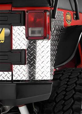 CJ3 - Body Armor - Warrior - Jeep CJ3 Warrior Rear Corner Plate - Without Holes