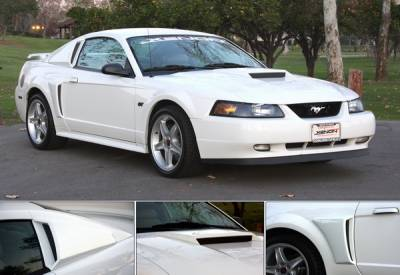 Mustang - Body Kit Accessories - Xenon - Ford Mustang Xenon Quarter Window Scoop - Urethane - Left & Right - 12710