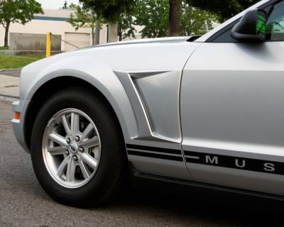 Mustang - Body Kit Accessories - Xenon - Ford Mustang Xenon Front Fender Reverse Scoop - Urethane - Left & Right - 12790