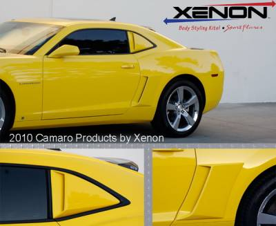 Camaro - Body Kit Accessories - Xenon - Chevrolet Camaro Xenon Quarter Window Scoop Kit with Black Inserts - Left & Right - 12910