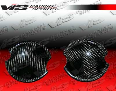Cooper - Body Kit Accessories - VIS Racing - Mini Cooper VIS Racing OEM Style Carbon Fiber Door Handle Covers - 02BMMC2DOE-045C