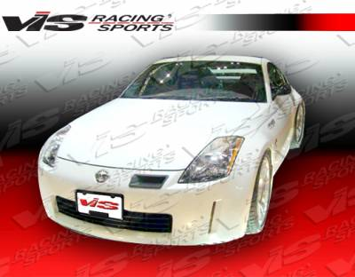 350Z - Body Kit Accessories - VIS Racing - Nissan 350Z VIS Racing Techno-R Carbon Fiber Bumper Intake Duct - 03NS3502DTNR-031C