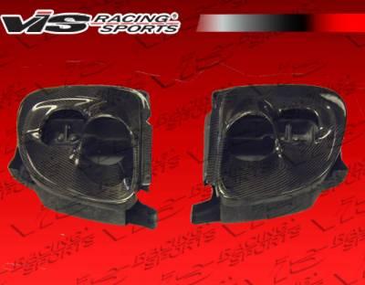 RX7 - Body Kit Accessories - VIS Racing - Mazda RX-7 VIS Racing Carbon Fiber Tracer Headlight Conversion Set - 93MZRX72DTRA-018C