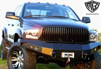 SUV Truck Accessories - Winches Winch Kits - ICI - Dodge Ram ICI Front Winch Bumper - Black Finish - FBM06DG