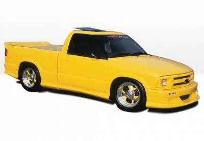 S10 - Body Kits - Wings West - Chevrolet S10 Wings West Custom Style Body Kit with Roll Pan - 890011