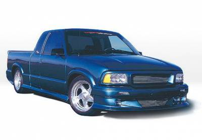 S10 - Body Kits - Wings West - Chevrolet S10 Wings West Custom Style Body Kit with OEM Bumper - 890043