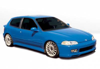 Civic HB - Body Kits - VIS Racing - Honda Civic HB VIS Racing Racing Series Complete Body Kit - 4PC - 890074