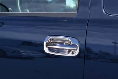 Suv Truck Accessories - Chrome Billet Door Handles - Putco - Chevrolet Silverado Putco ABS Chrome Door & Tailgate Handles - 90016