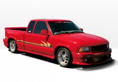 S10 - Body Kits - Wings West - Chevrolet S10 Wings West Custom Style Body Kit with OEM Bumper - 890164
