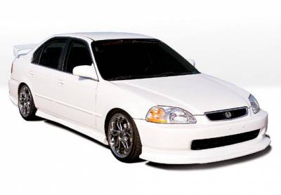 Civic 4Dr - Body Kits - VIS Racing - Honda Civic 4DR VIS Racing Racing Series Body Kit with Touring Style Front Lip - Polyurethane - 4PC - 890182