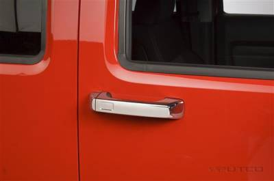 Suv Truck Accessories - Chrome Billet Door Handles - Putco - Hummer H3 Putco Door Handle Covers - 400028