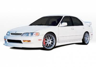 Accord 2Dr - Body Kits - Wings West - Honda Accord 2DR Wings West Touring Style Complete Body Kit - 4PC - 890315