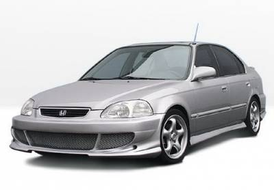 Civic 4Dr - Body Kits - Wings West - Honda Civic 4DR Wings West Bigmouth Complete Body Kit - 4PC - 890318