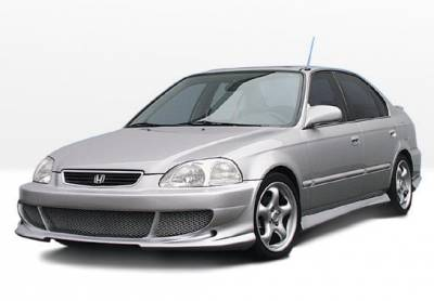 Civic 4Dr - Body Kits - VIS Racing - Honda Civic 4DR VIS Racing Bigmouth Complete Body Kit - 4PC - 890318