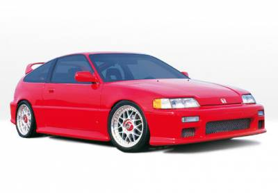 CRX - Body Kits - VIS Racing - Honda CRX VIS Racing Racing Series Complete Body Kit - 6PC - 890331