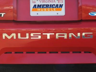 Accessories - Mustang Emblems - AM Custom - Ford Mustang Stainless Steel Bumper Insert Letters - 13037