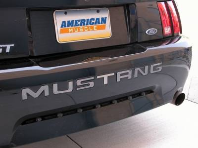 Accessories - Mustang Emblems - AM Custom - Ford Mustang Black Chrome Bumper Insert Letters - 13051