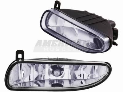 Headlights & Tail Lights - Fog Lights - AM Custom - Ford Mustang Chrome Fog Lights - 14054