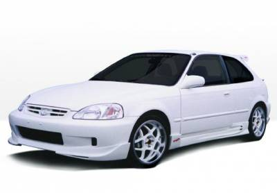 Civic HB - Body Kits - VIS Racing - Honda Civic HB VIS Racing W-Type Full Body Kit - 4PC - 890476
