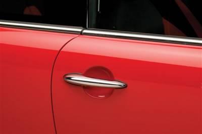 SUV Truck Accessories - Chrome Billet Door Handles - Putco - Mini Cooper Putco Door Handle Covers - Chrome - 400524