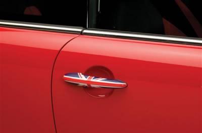 SUV Truck Accessories - Chrome Billet Door Handles - Putco - Mini Cooper Putco Door Handle Covers - Union Jack - 400525