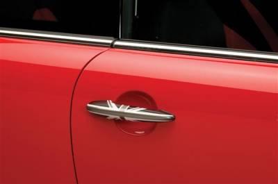 SUV Truck Accessories - Chrome Billet Door Handles - Putco - Mini Cooper Putco Door Handle Covers - Black Union Jack - 400526