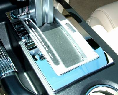 Car Interior - Interior Accessories - Action Artistry - Ford Mustang Action Artistry Chrome Automatic Shifter Bezel - 15517