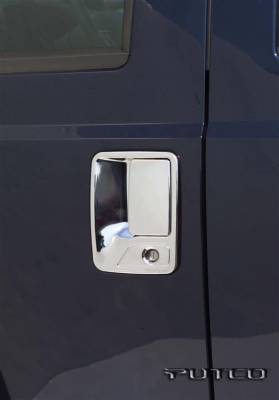 Suv Truck Accessories - Chrome Billet Door Handles - Putco - Ford F350 Superduty Putco Door Handle Covers - 401009