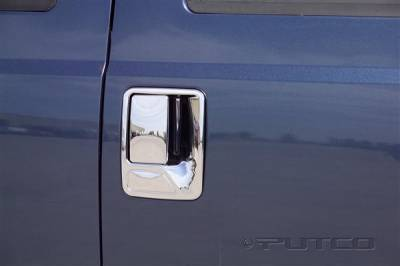 Suv Truck Accessories - Chrome Billet Door Handles - Putco - Ford F250 Superduty Putco Door Handle Covers - 401014