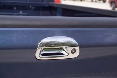 Suv Truck Accessories - Tail Gate Lock - Putco - Ford F250 Superduty Putco Chromed Stainless Steel Tailgate Handle Cover - 401015