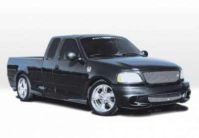 F150 - Body Kits - Wings West - Ford F150 Wings West Lightning Style Complete Body Kit with W-Type Sides & Rear - 8PC - 890658