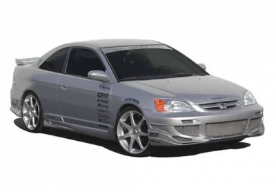 Civic 2Dr - Body Kits - VIS Racing - Honda Civic 2DR VIS Racing Avenger Complete Body Kit - 4PC - 890660