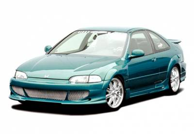 Civic 2Dr - Body Kits - VIS Racing - Honda Civic 2DR VIS Racing Bigmouth Body Kit - 4PC - With 7PC Extreme Fender Flares - 890697