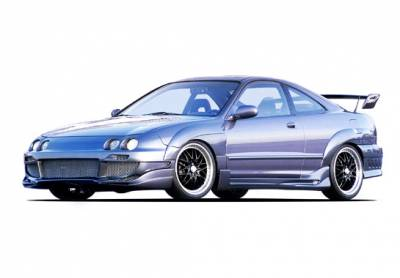 VIS Racing - Acura Integra 2DR VIS Racing Avenger Body Kit with 7PC Extreme Flares - 890740