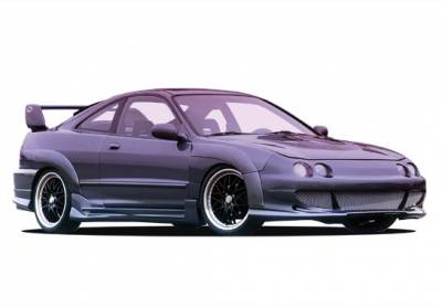 Integra 2Dr - Body Kits - Wings West - Acura Integra 2DR Wings West Big Mouth Body Kit with Extreme Flares - 890741